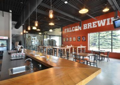 Brewery – Bar and store front Falcon feature wall